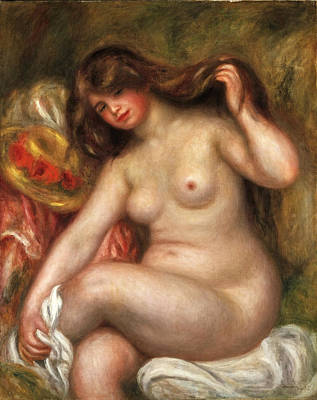 Bather Renoir Painting - Large Bather by Pierre-Auguste Renoir