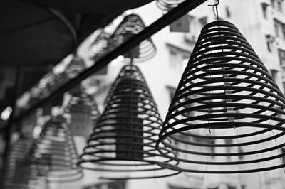 Ancestrals Photograph - Large Incense Coils Hanging In Pak Sing by Panoramic Images