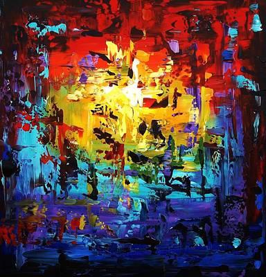 Large Painting Art Print by Jolina Anthony