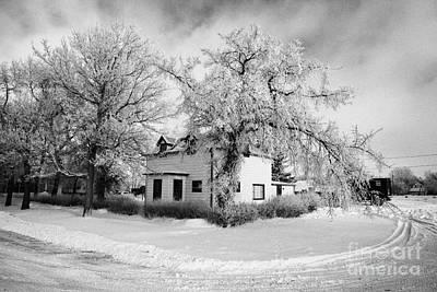 large residential traditional house in rural village Forget Saskatchewan Canada Art Print by Joe Fox