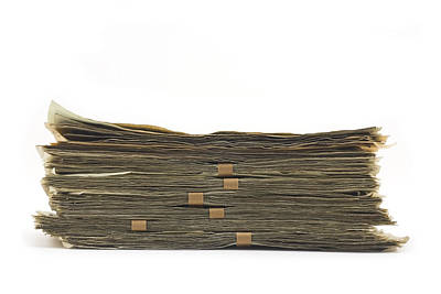 Photograph - Large Stack Of American Cash Money by Keith Webber Jr