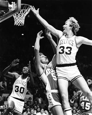 Of Birds Photograph - Larry Bird by Retro Images Archive