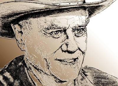 Larry Hagman In 2011 Art Print