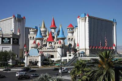 Las Vegas - Excalibur Casino - 12121 Art Print by DC Photographer