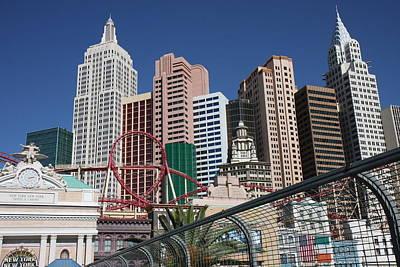 Liberty Photograph - Las Vegas - New York New York Casino - 12123 by DC Photographer