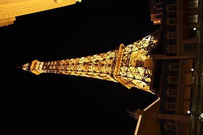 Lit Photograph - Las Vegas - Paris Casino - 121213 by DC Photographer