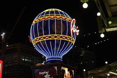 Nevada Photograph - Las Vegas - Paris Casino - 12129 by DC Photographer