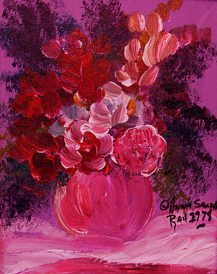 James Earl Ray Painting - Last Bouquet  by Anna Sandhu Ray
