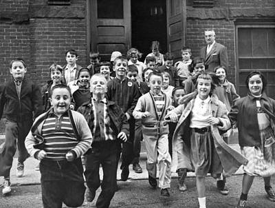 Exuberant Photograph - Last Day Of School by Underwood Archives