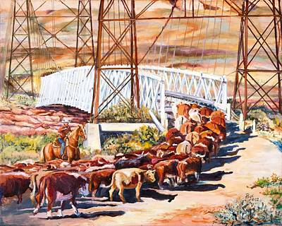 Painting - Last Drive Over Dewey Bridge by Page Holland