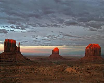 Photograph - Last Light Monument Valley by Jeff Brunton