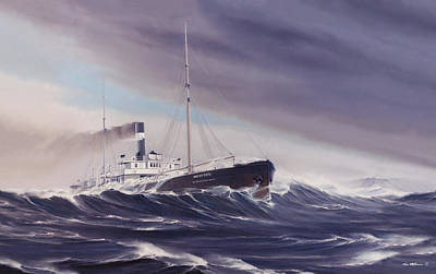 Huron Painting - Last Sighting by Captain Bud Robinson