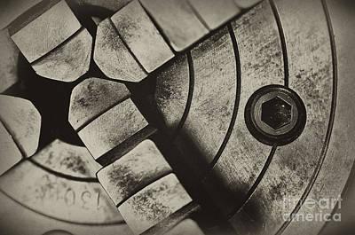Photograph - Lathe Chuck by Wilma  Birdwell