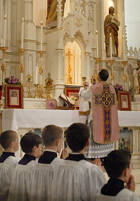 Photograph - Latin Mass by Don Wolf