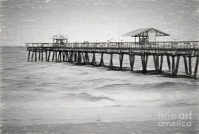 Photograph - Lauderdale By The Sea Fishing Pier by Les Palenik
