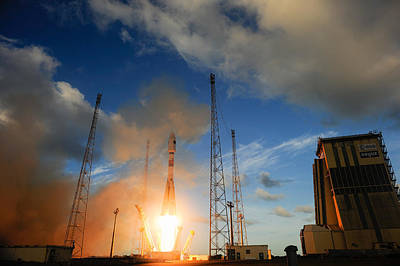 Photograph - Launch Of Soyuz Vs07 2014 by Science Source