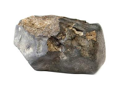 Meteorite Photograph - Launton Meteorite by Natural History Museum, London