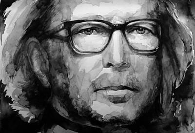 Eric Clapton B W Art Print by Laur Iduc