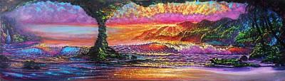 Painting - Lava Tube Fantasy by Joseph   Ruff