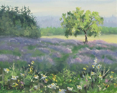 Painting - Lavender Afternoon by Karen Ilari