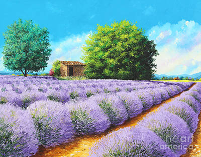 Rural Buildings Painting - Lavender Lines by Jean-Marc Janiaczyk