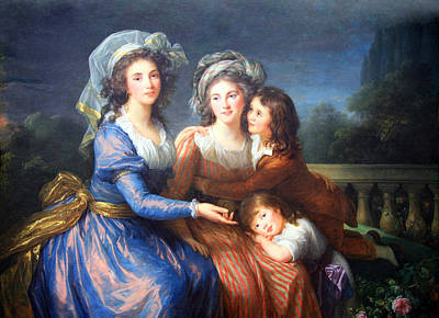 Marquise Photograph - Le Brun's Marquises De Pezay And De Rouge With Children by Cora Wandel