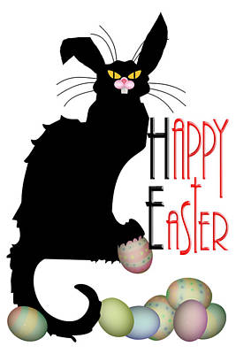 Chatting Digital Art - Le Chat Noir - Easter by Gravityx9  Designs