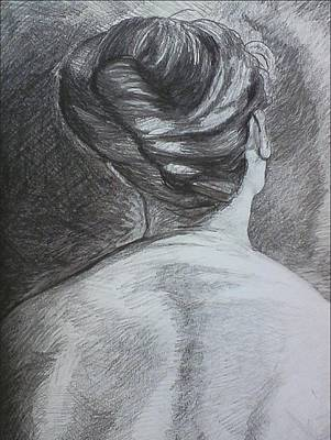 Wall Art - Drawing - Le Chignon by Kerrie B Wrye