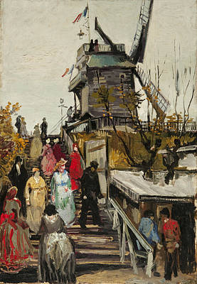 Digital Art - Le Moulin De Blute Fin by Vincent VAn Gogh