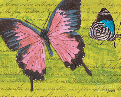 Antiques Mixed Media - Le Papillon 2 by Debbie DeWitt