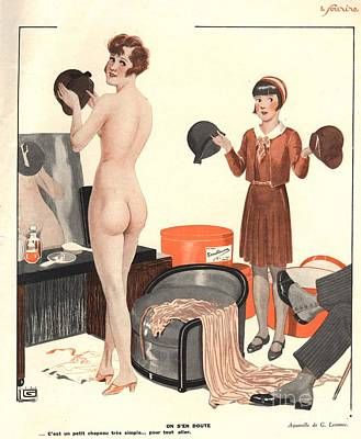 Le Sourire 1920s France Erotica Sales Art Print by The Advertising Archives