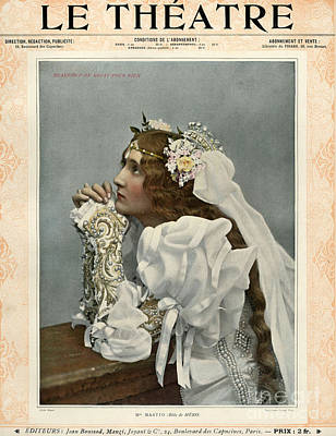 Le Theatre 1899 1890s France Magazines Art Print by The Advertising Archives