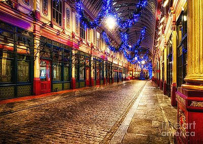 Leadenhall Christmas Lights Art Print by Jack Torcello