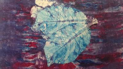 Screen-print Mixed Media - Leaf Print  by Hayley Jeenes