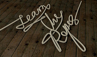 Learn The Ropes Rope Art Print by Allan Swart