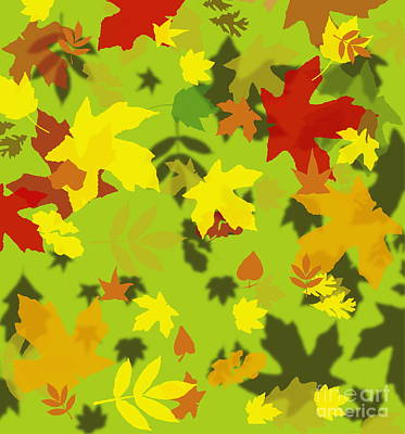 Photograph - Leaves by David Nicholls