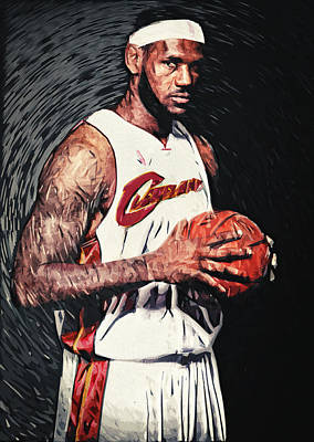 Digital Art - Lebron James by Taylan Apukovska