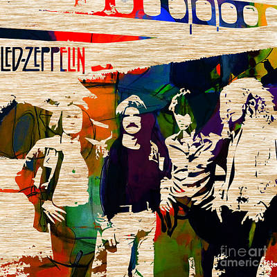 Led Zeppelin Mixed Media - Led Zeppelin by Marvin Blaine