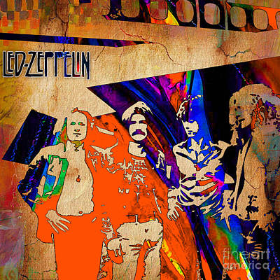 Led Zeppelin Mixed Media - Led Zeppelin Painting by Marvin Blaine