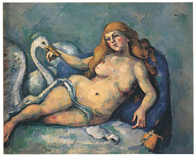 Leda Painting - Leda And The Swan by Paul Cezanne