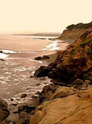 Pacific Coast Highway Painting - Leffingwell Landing Cambria Digital Painting by Barbara Snyder