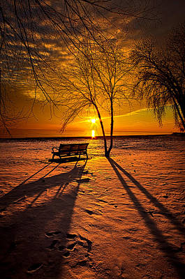 Park Benches Photograph - Left Behind by Phil Koch