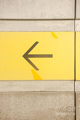 Directional Signage Photograph - Left Direction Wall by Jorgo Photography - Wall Art Gallery