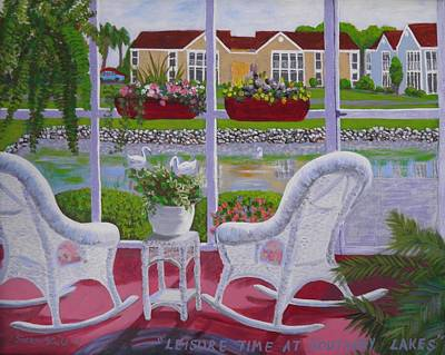 Painting - Leisure Time At Southbay Lakes by Sharon Casavant