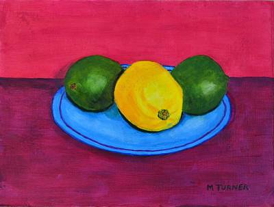 Art Print featuring the painting Lemon Or Lime by Melvin Turner