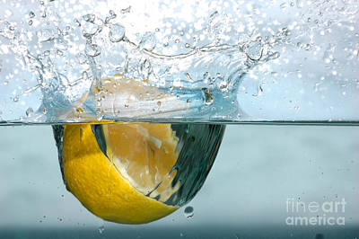 Photograph - Lemon Splash Into Water by Michal Bednarek