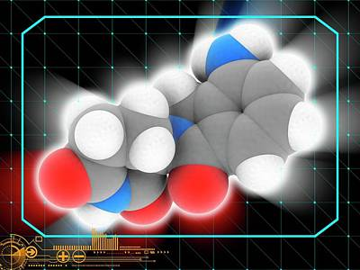 Lenalidomide Drug Molecule Art Print by Laguna Design/science Photo Library