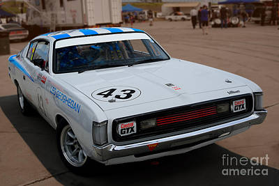 Chrysler Valiant Photograph - Leo Geoghegan Charger by Stuart Row