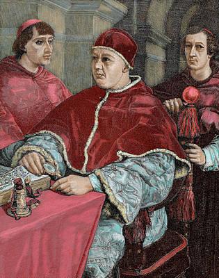 Rossi Photograph - Leo X (1475-1521 by Prisma Archivo