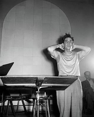 Leonard Bernstein(1918-1990) Art Print